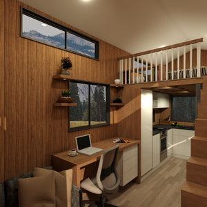 Adventurer - 8.4 Metre Tiny House Plans Exterior