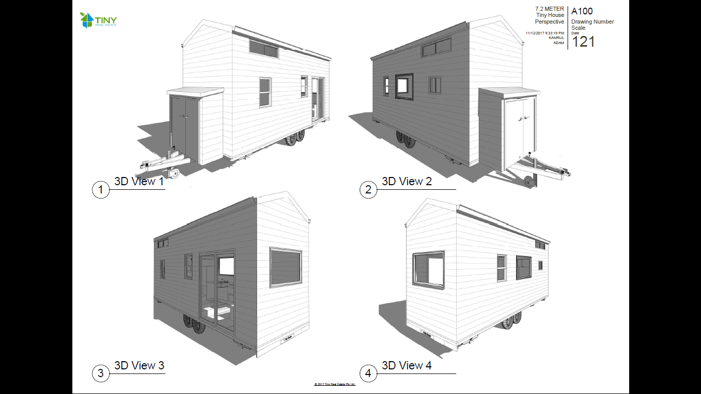 Freedom 7 2 Metre 24ft Tiny House Plans Tiny Home Plans