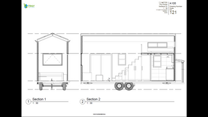 Freedom - 7.2 Metre Tiny House Plans Exterior