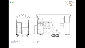 The Minimalist - 6 Metre Tiny House Plans Exterior