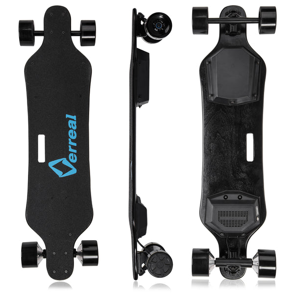 How do you brake Verreal electric skateboard