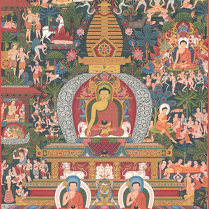 Buddha Life Painting in Thangka from Himalayas