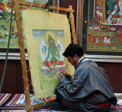 Process of thangka Paint