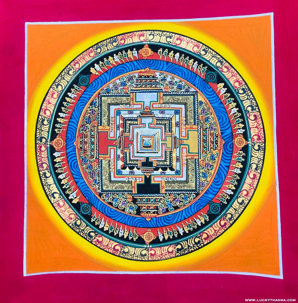 Beautiful Kalachakra Mandala small size for meditation or decoration -  Best Thangka & Singing Bowl