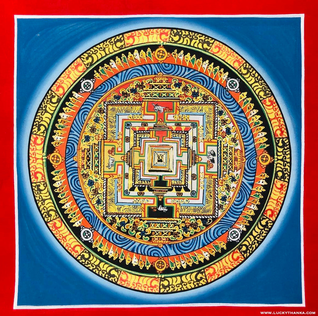 Kalachakra Mandala for Peace and Good Luck -  Best Thangka & Singing Bowl