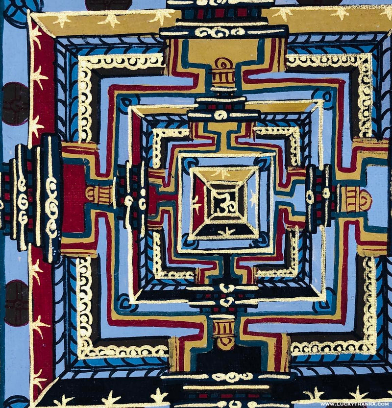 Kalachakra Mandala Thangka art for Peace and Good Luck -  Best Thangka & Singing Bowl
