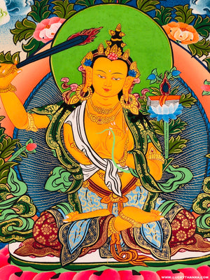 Manjushri Thangka Painting -  Best Thangka & Singing Bowl