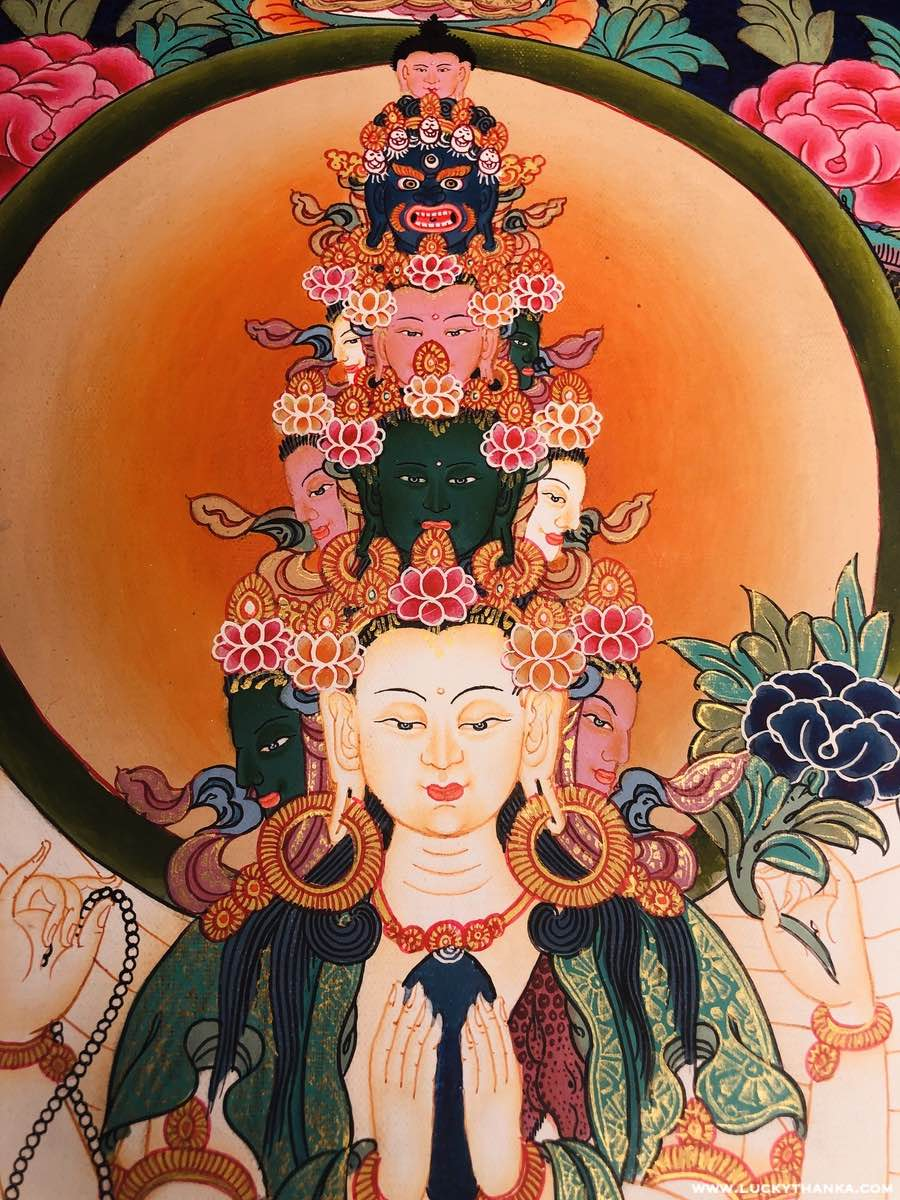 Avalokiteshvara 1000 arm Chenrezig Thangka Art