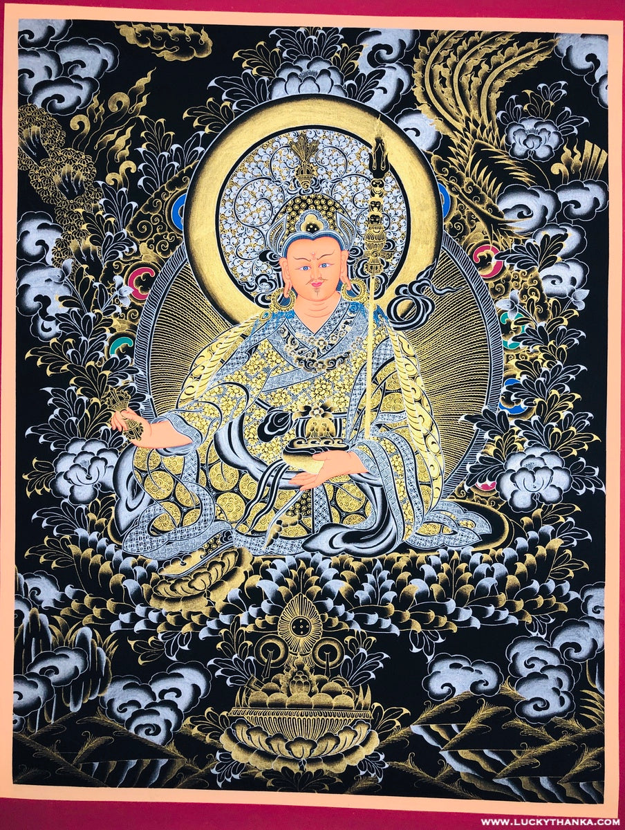 #1 Gold and Silver Guru Thangka Best Quality