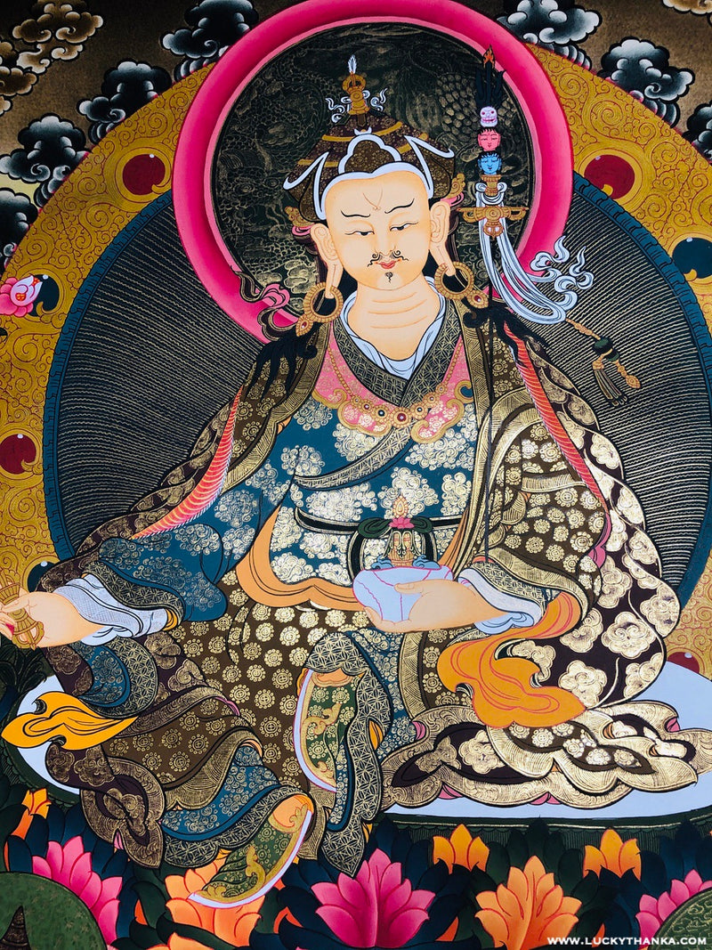 Guru Padmasambhava Thangka | Best Price and Quality -  Best Thangka & Singing Bowl