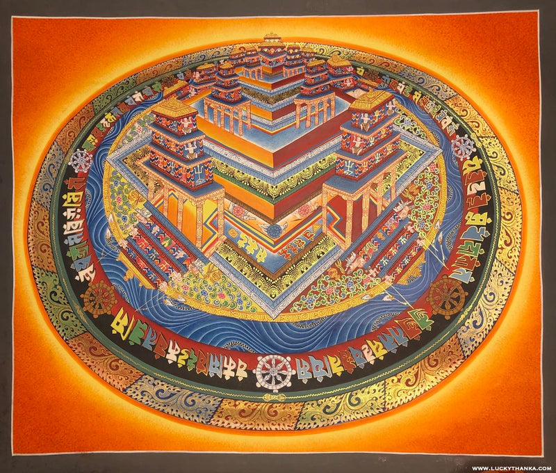 Kalchakra Mandala 3d Design Thangka Painting | Buy Now