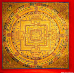 Golden Kalachakra Mandala Thangka | Buy Best Thangka from Nepal