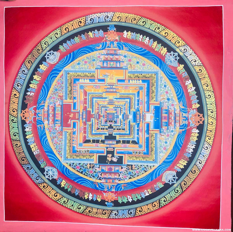 Kalchakra Mandala Thangka Painting with Various Color