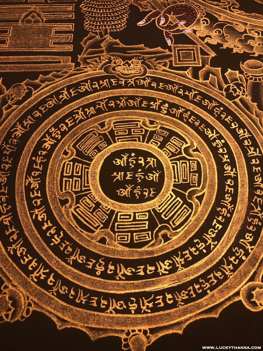 Tibetan Astrology Calendar Painting