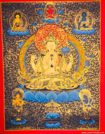 Great Compassionate Buddha - Chenrezig Thangka Painting -  Best Thangka & Singing Bowl