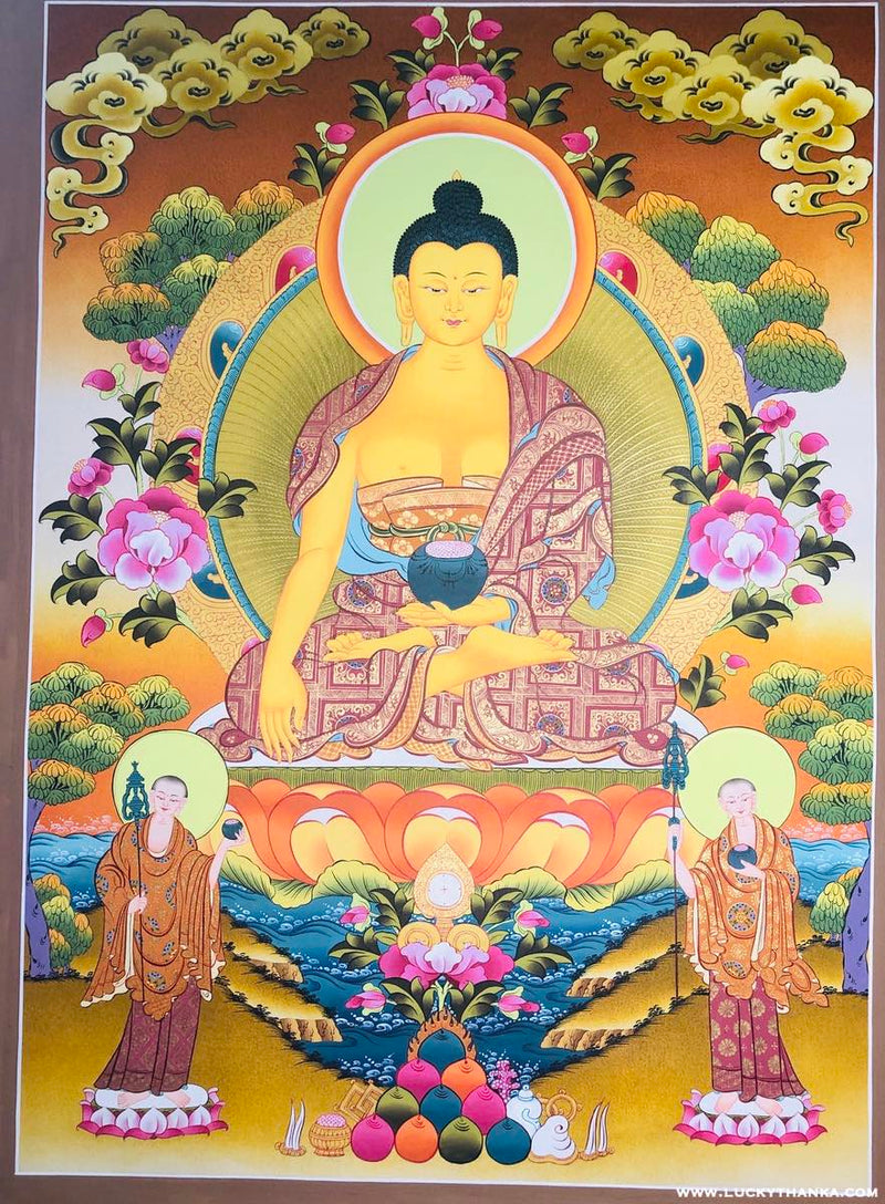 Shakyamuni Buddha Thangka art -  Best Thangka & Singing Bowl