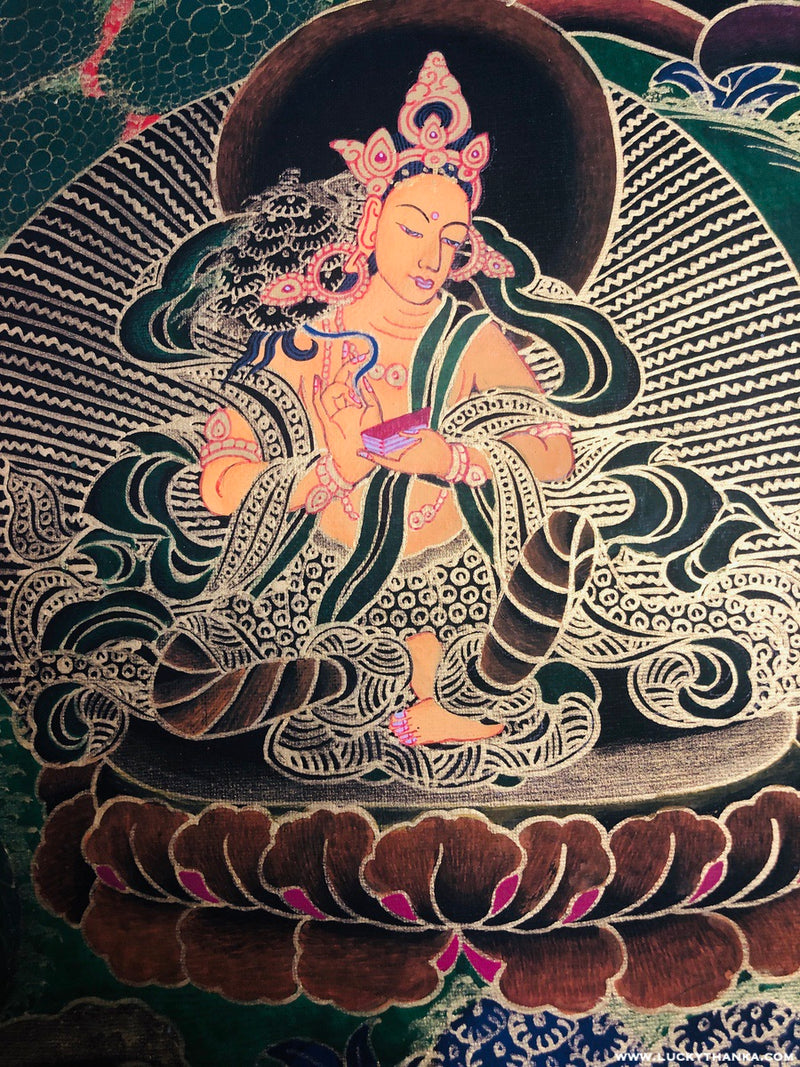 Tibetan Thangka White Tara Art