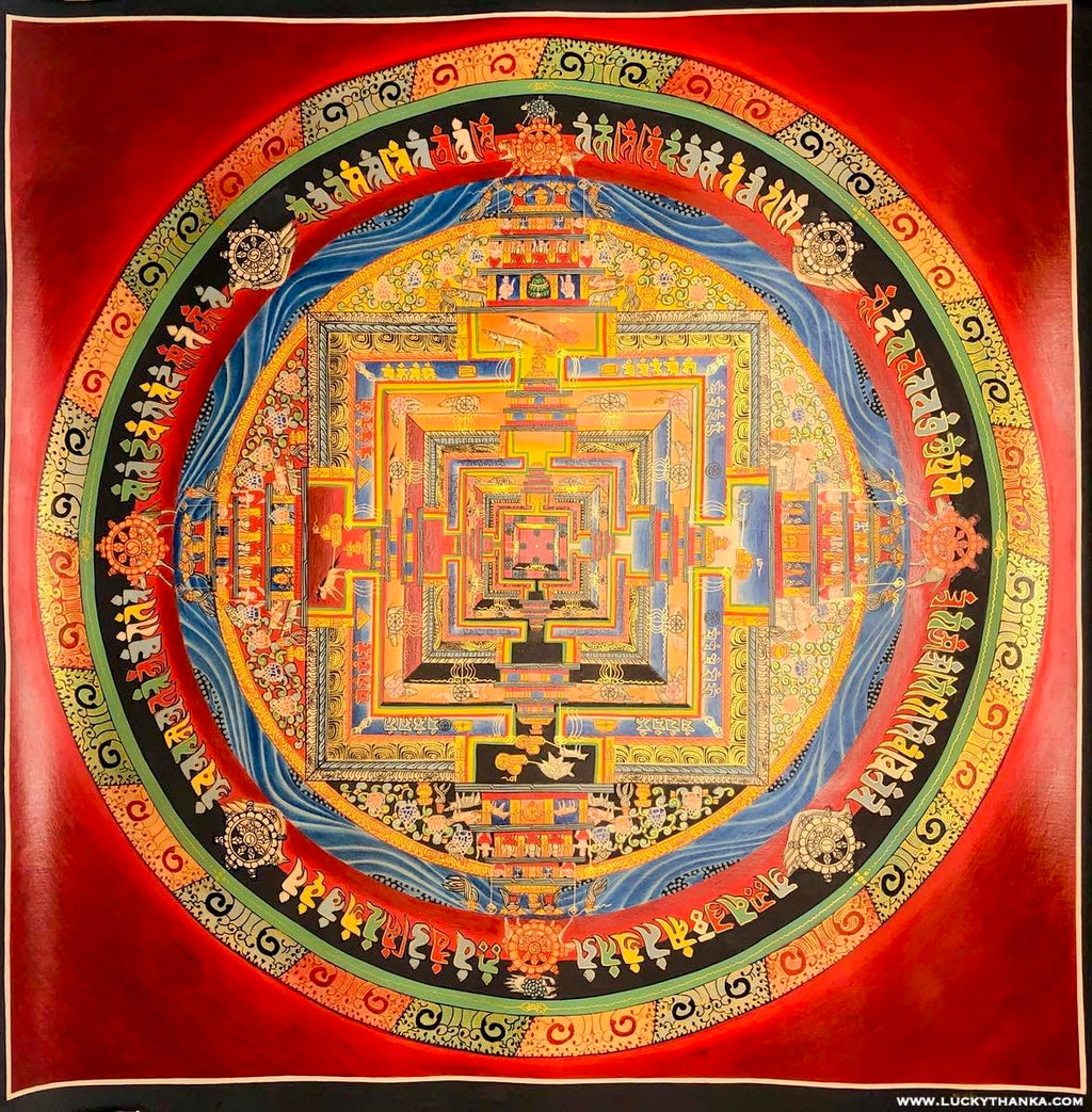 Good Luck Kalachakra Mandala Thangka Painting