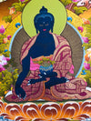 Medicine Buddha Healer Thangka Painting -  Best Thangka & Singing Bowl