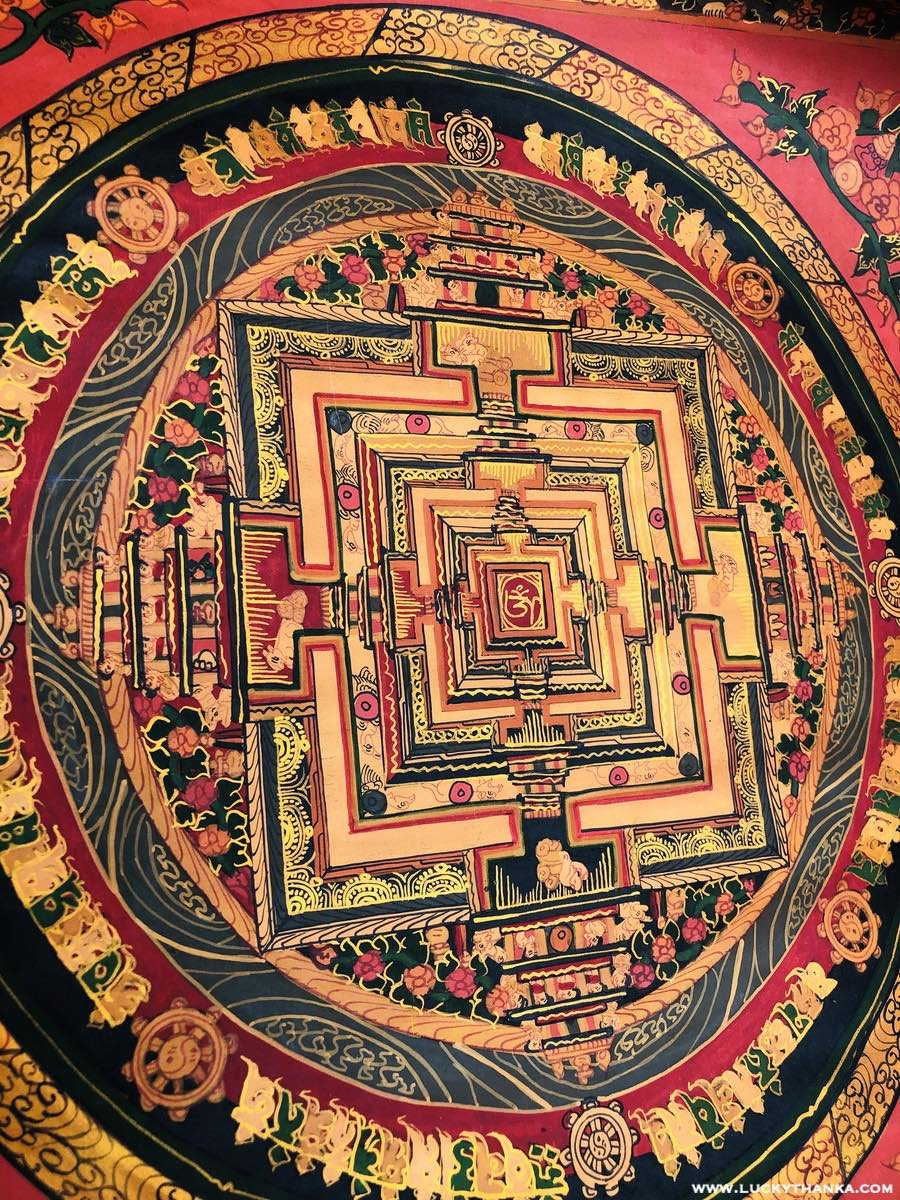 Beautiful Kalachakra Mandala Design Thangka Painting | Best Price -  Best Thangka & Singing Bowl
