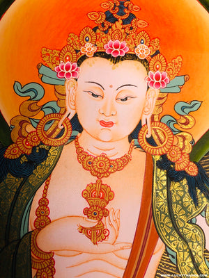 Vajrasattva Thangka Painting from Nepal -  Best Thangka & Singing Bowl