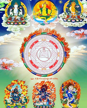 Parnashavari Thangka Painting for Healing negativity and sickness from natural disaster [covid-19]