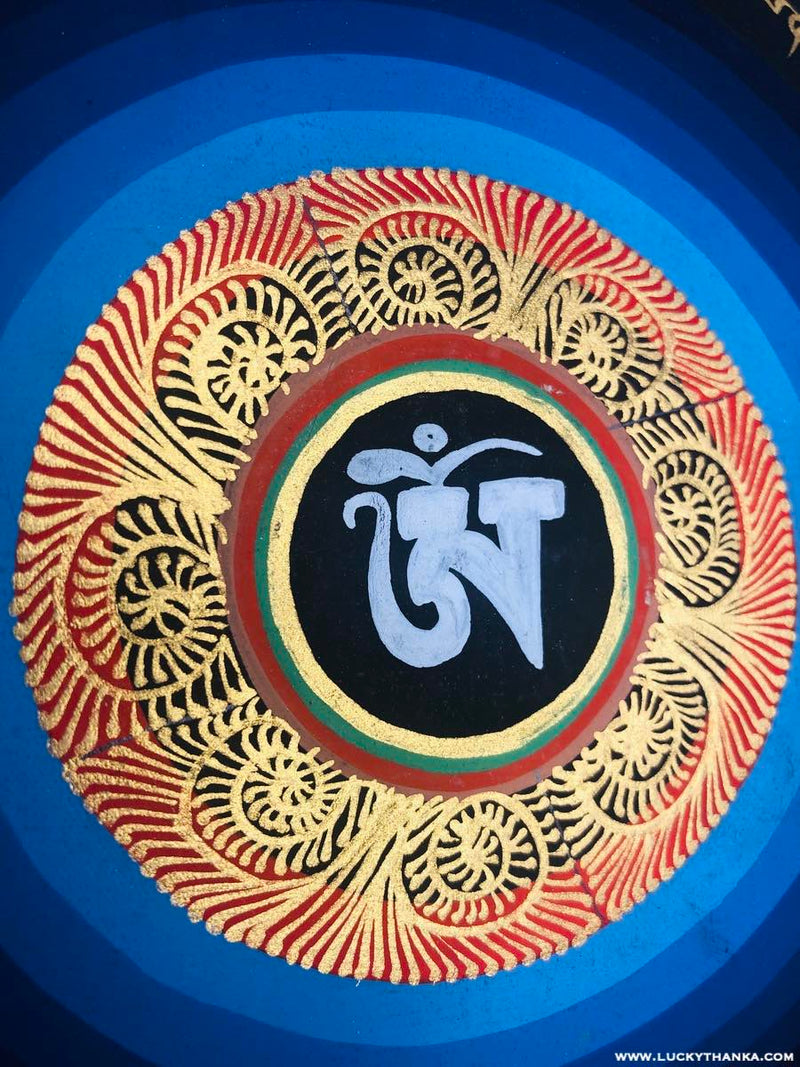 Wall Hanging Painting of Om Mandala -  Best Thangka & Singing Bowl