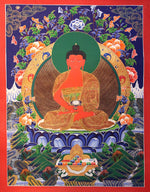 Hand Painted Amitabha Buddha Tibetan Thangka on Sale.