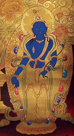 Hand painted Amitabha Buddha Thangka Painting on cotton canvas.