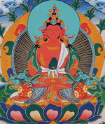 Amitayu Buddha -  Best Thangka & Singing Bowl