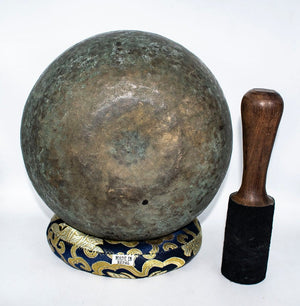 Himalayan Antique Singing bowl from Nepal 7.5 inches -  Best Thangka & Singing Bowl