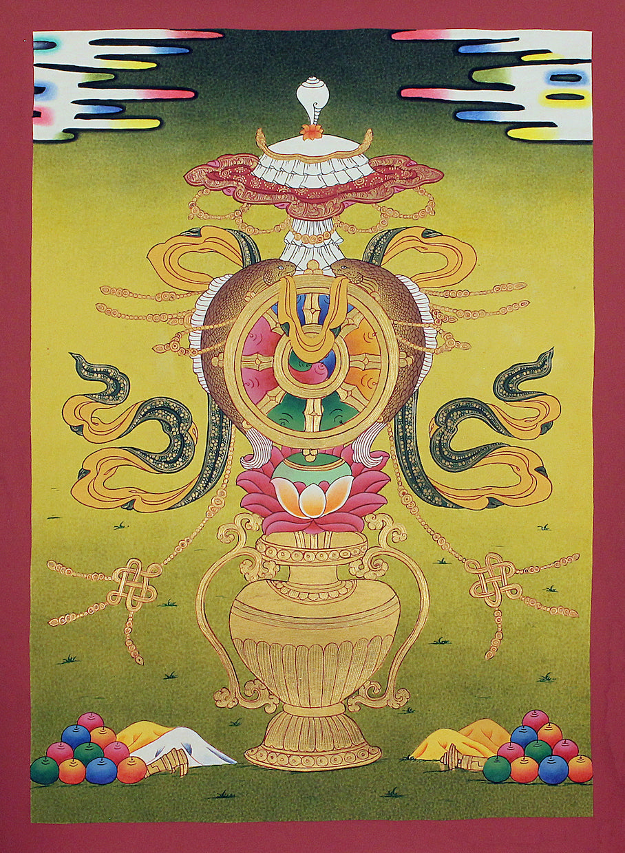 8 Auspicious Symbol -  Best Thangka & Singing Bowl