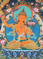 Manjushri Tibetan Thangka Painting | Ultimate Wisdom -  Best Thangka & Singing Bowl