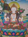 Meditation with Thangka Chenrezig for Love and Compassion -  Best Thangka & Singing Bowl