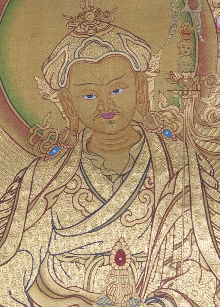 Guru Padmasambhava Thangka || Full Gold High quality