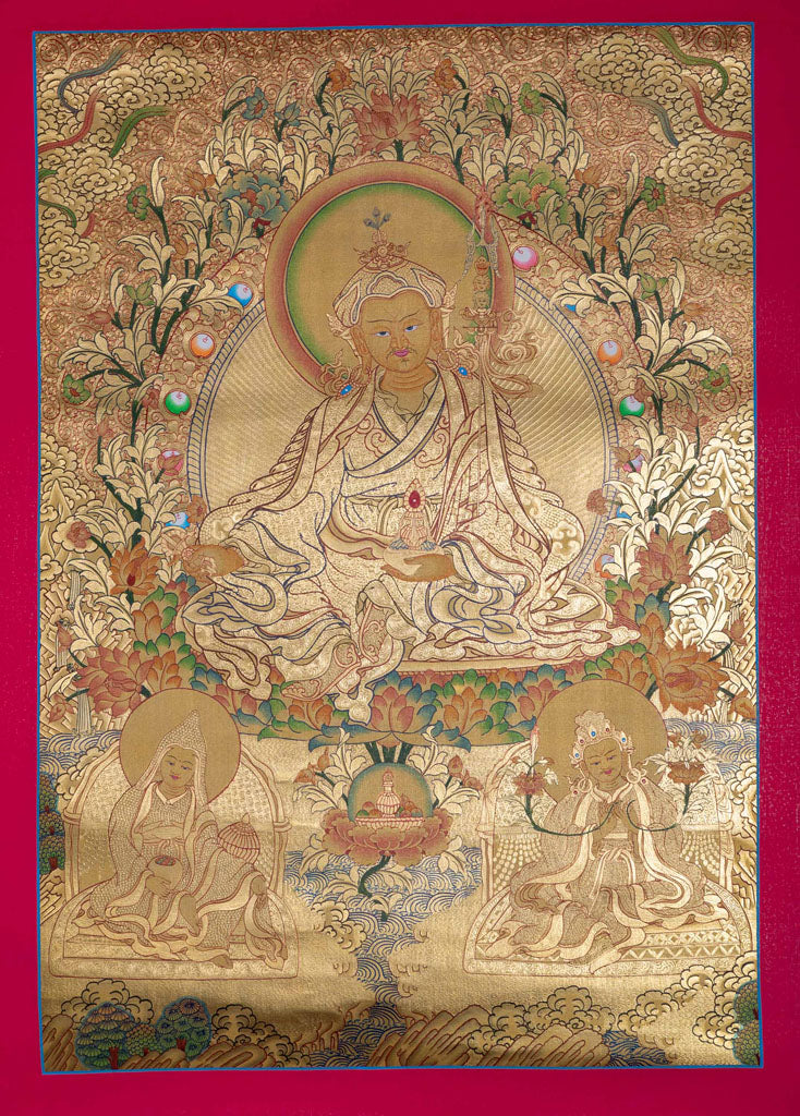 Guru Padmasambhava Thangka || Full Gold High quality -  Best Thangka & Singing Bowl