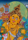 Dzambala (Money God) -  Best Thangka & Singing Bowl