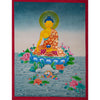Shakyamuni Buddha seated on a lotus, Thangka painting from Himalaya -  Best Thangka & Singing Bowl