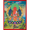 Amitayu long life Tibetan thangka scroll painting on cotton canvas.