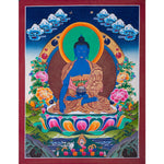 Bhaisajyaguru Thangka painting from Nepal -  Best Thangka & Singing Bowl