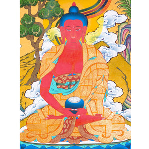 Amitabha Buddha thangka painting -  Best Thangka & Singing Bowl