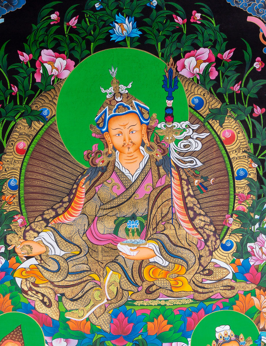 Beautiful Thangka art | Guru Rinpoche Painting -  Best Thangka & Singing Bowl