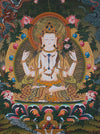 Beautiful Chenrezig god of compassion Tibetan thangka painting buy online now -  Best Thangka & Singing Bowl
