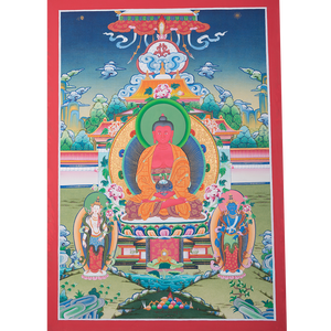 High quality Amitabha Buddha Thangka painting on sale.