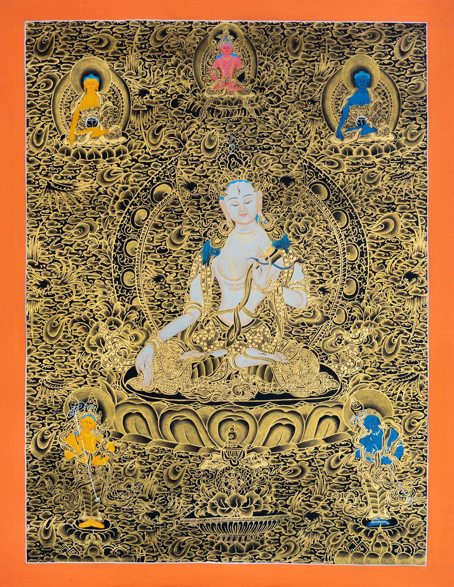 White Tara Thangka Painting art | Love and Compassion