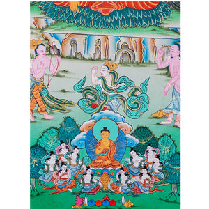 Shakyamuni Buddha Thangka event showing just before reaching the Enlightenment