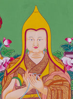 Beautiful Lama Tsongkhapa -  Best Thangka & Singing Bowl