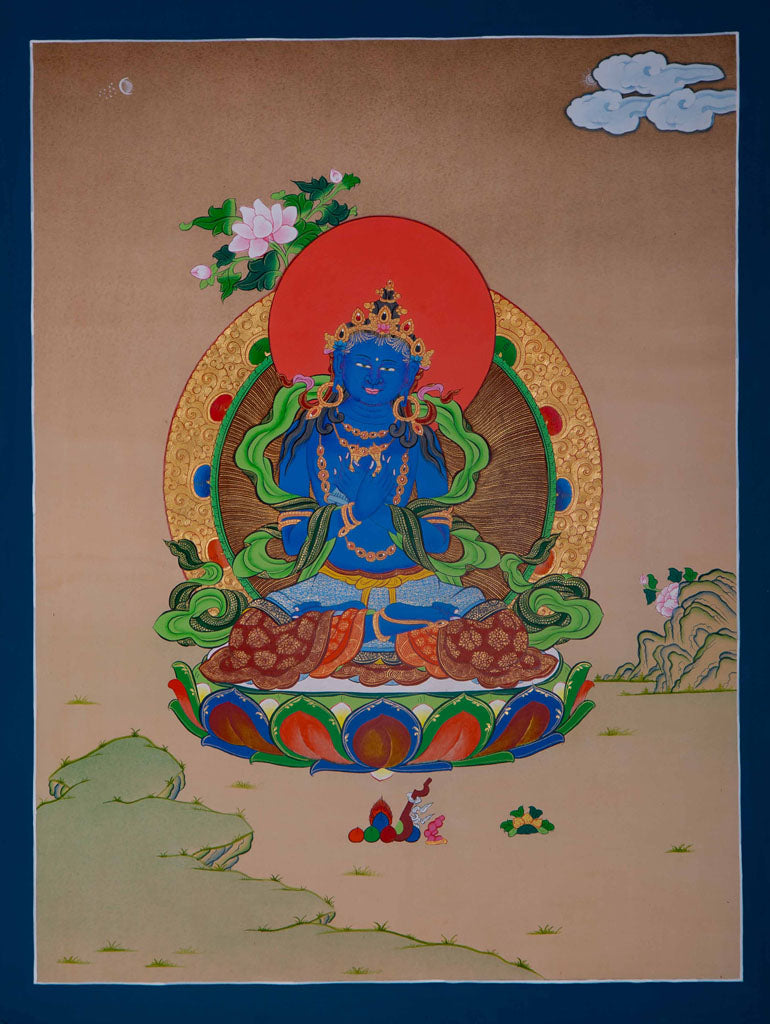 Vajradhara Thangka Painting -  Best Thangka & Singing Bowl