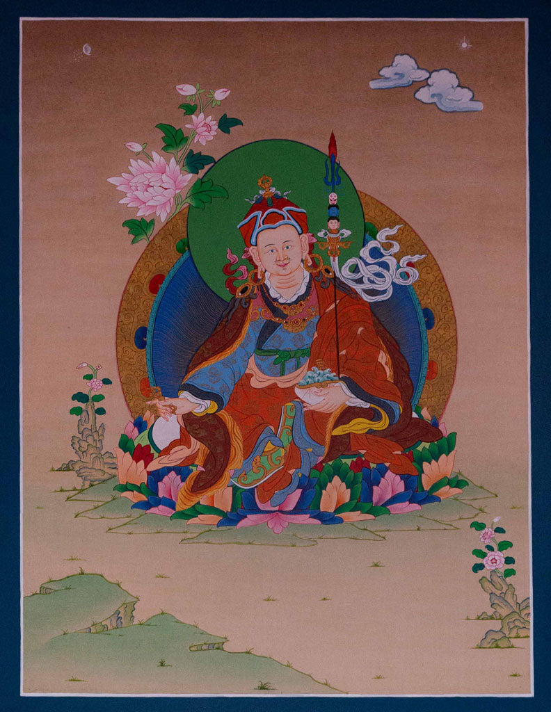Guru Rinpoche Thangka painting -  Best Thangka & Singing Bowl