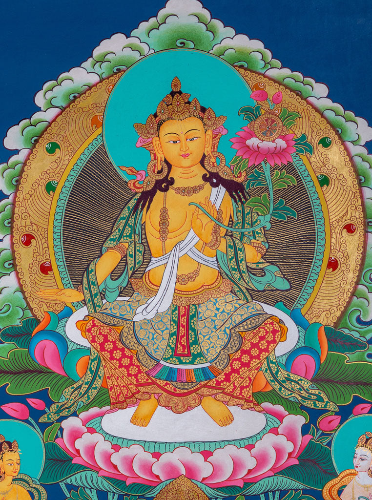 The Future Buddha || Maitreya Buddha Thangka -  Best Thangka & Singing Bowl